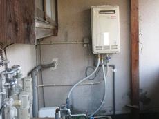 ガス給湯器 施工後