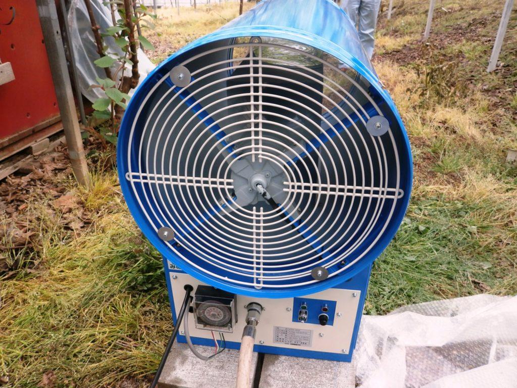 炭酸ガス発生装置 ファン接続